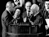 President Lyndon Johnson Takes the Oath of Office at His 1964 Inauguration Photo