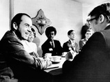 Pres Richard Nixon Meets Young People Who Served on Experimental Youth Advisory Committees Photo