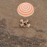 The Soyuz Space Craft Carrying International Space Station Crew Lands in Kazakhstan Photographic Print