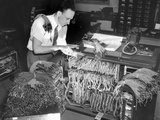 A Engineer Works on a IBM Computer Used to Administer Gl Insurance Dividend for Millions of Vets Photographic Print