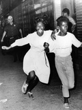 Two Young African Americans Girls, Screaming During Riots in Bedford-Stuyvesant Section of Brooklyn Photo