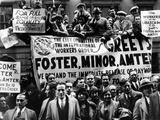 Communist Mass Meeting in New York City Photographic Print