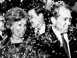 Former Vice President Richard Nixon and Wife Pat at a Victory Party Photographic Print