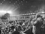 Former President Harry Truman at the 1956 Democratic National Convention Photographic Print