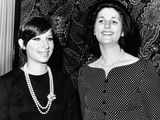 Lynda Bird Johnson Is Greeted Backstage by Barbra Streisand Photographic Print
