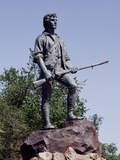 Minute Man Statue on Lexington Battle Green, the Site of the First Battle in the Revolutionary War Posters