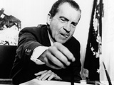 President Richard Nixon Signs the Emergency Employment Act of 1971 Photographic Print