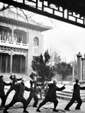 Middle-Aged Chinese Men Practice T'ai Chi in Hopei Province, Communist China, Jan 1962 Photo