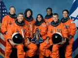 Crew of the Ill-Fated Space Shuttle Columbia Fotografie-Druck