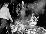 Students Burn Garbage in the Latin Quarter of Paris as New Violence Erupted Early May 23, 1968 Photo