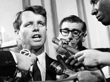 Senator Robert Kennedy in a Press Conference Photo