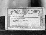1968 Social Security Card Photographic Print
