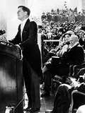 President John Kennedy Delivering His Inaugural Address Photo