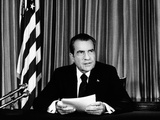 President Richard Nixon Declared His Innocence in the Watergate Scandal Photographic Print