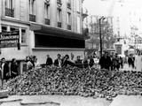 Stone Barricade in Paris' Latin Quarter During the May 1968 General Strike, Paris, May 26, 1968 Photographic Print