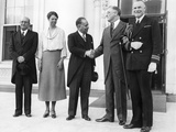 Pres Franklin and Eleanor Roosevelt and Mexican Minister of Finance, Alberto Pani Photographic Print
