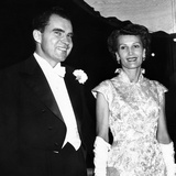 Vice President Richard and Patricia Nixon at Pre-Inauguration Festivities, Jan 17, 1956 Photo