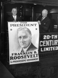 Giant Poster of New York Governor Franklin Roosevelt, Candidate for Democratic Pres Nomination Photographic Print