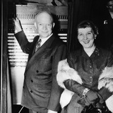 Republican Presidental Nominee, General Dwight Eisenhower, and Wife Mamie, Voting in 1952 Election Prints