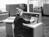 IBM 702, Was a Giant Brain Designed for Business Photographic Print