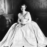 Maine Eisenhower Models the Gown She Will Wear to the Inaugural Ball Photographic Print