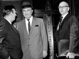 Joseph (Joe Bananas) Bonanno Talks to UPI Reporter Robert Evans on Steps of Federal Courthouse Photographic Print