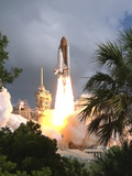 Space Shuttle Endeavour Launch Was the 57th Space Shuttle Mission, June 21,1993 Photo