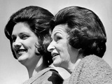 Lady Bird Johnson, the First Lady, with Her Oldest Daughter, Lynda Bird Johnson Posters