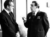 President Richard Nixon and Soviet Communist Party Leader, Leonid Brezhnev, Moscow, June 29, 1974 Photo
