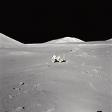Apollo 17 Geologist-Astronaut Harrison H Schmitt at the Taurus-Littrow Landing Site Photo