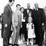 President Eisenhower's Grandchildren See Him Off on His Trip the East Asia Photo