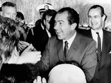 Employees of the Central Intelligence Agency Greet President Nixon Photographic Print