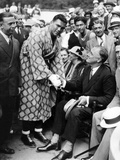 Governor Franklin D Roosevelt Shaking Hands with Boxer, Max Schemeling Photographic Print