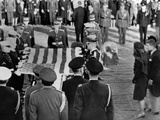 Jacqueline Kennedy Stands Forward as the Flag from Her Husband's Coffin Is Raised for Folding Photo