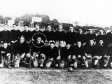 Richard Nixon (Circled) with the Freshman Football Team of Whittier College Photographic Print