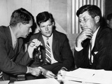 Three Kennedy Brothers at Rackets Hearing Photographic Print