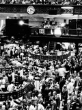 Trading Floor of the New York Stock Exchange on August 16, 1971 Photographie