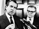 Pres Richard Nixon and Gov Nelson Rockefeller Discuss Gov's Assessment of Latin American Relations Photo