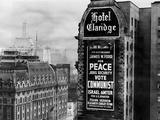 US Communist Election Campaign Sign on the Wall of the Claridge Hotel in Times Square Photographic Print