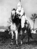 Klansman Doing Sentry Duty Near the Klan Encampment at Kiles, Ohio Photographic Print