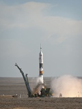 The Soyuz TMA-18 Rocket Launches from the Baikonur Cosmodrome in Kazakhstan Photo