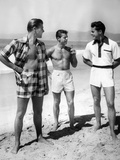 Male Models Pose in Jantzen's 1952 Men's Bathing Suits Photographic Print