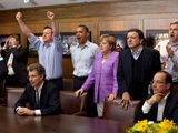 Dignitaries Watch the Overtime Shootout of the Chelsea vs Bayern Munich Champions League Final Photo