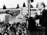 President Gerald Ford Speaks to a Crowd of 6,000 in Melvin, Illinois Posters