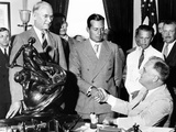 President Franklin Roosevelt Shakes Hands with Donald Douglas, 1936 Winner of the Collier Trophy Photographic Print