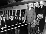 President Franklin Roosevelt Inspects the New Union Pacific Streamliners Photo