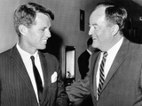 Robert Kennedy and Hubert Humphrey at the Capitol, Aug 4, 1964 Photo