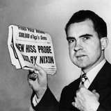 Senator Richard Nixon Calls for Continuing Huac's Alger Hiss Investigation Photographic Print