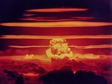The Dakota Shot, Was a 1.1 Megaton Hydrogen Bomb, Enewetak Atoll on June 25, 1956 Stampa fotografica