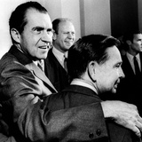 President Nixon with His Arm around Democratic Majority Leader Carl Albert Photographic Print